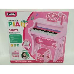 Пианино со стульчиком в коробке с микрофоном 37клавиш 328-31/36