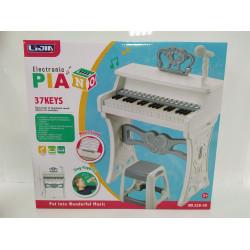 Пианино со стульчиком в коробке с микрофоном 37клавиш 328-30