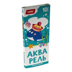 Акварель FUNNY FRIENDS, 10 цветов б/к   Ааф-002